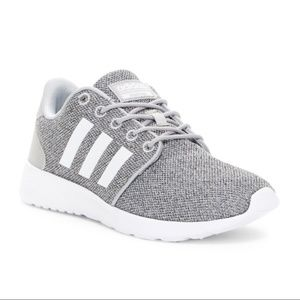 Adidas Cloudfoam QT Racer Sneaker Gray and White
